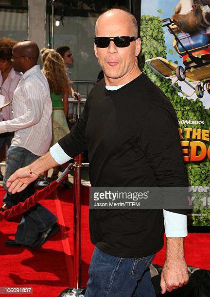 Bruce Willis during Dreamworks' Over The Hedge Los Angeles Premiere Arrivals at Mann Village Theatre in Westwood California United States
