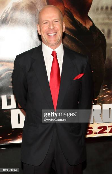 Bruce Willis during Live Free or Die Hard New York City Primiere Arrivals at Radio City Music Hall at 1260 Avenue of the Americas in New York City...