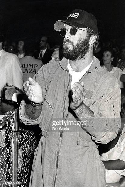 Bruce Willis during Mike Tyson vs Michael Spinks Fight at Trump Plaza June 27 1988 at Trump Plaza in Atlantic City New Jersey United States