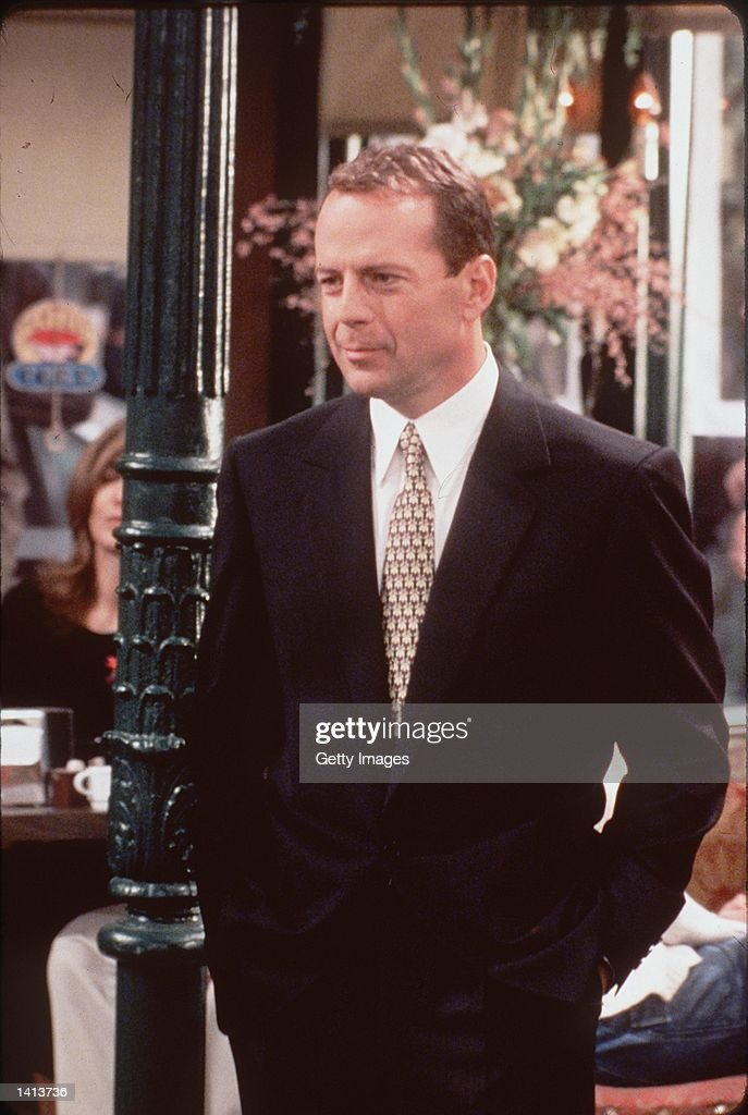 "Bruce Willis guest starring on ""Friends"". Photo Credit ..."