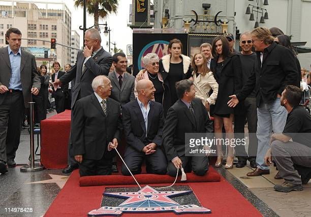 Bruce Willis his mother Marlene his children Scout Willis Tallulah Willis Rumer Willis Ben Affleck Don Johnson and Demi Moore and Ashton Kutcher with...