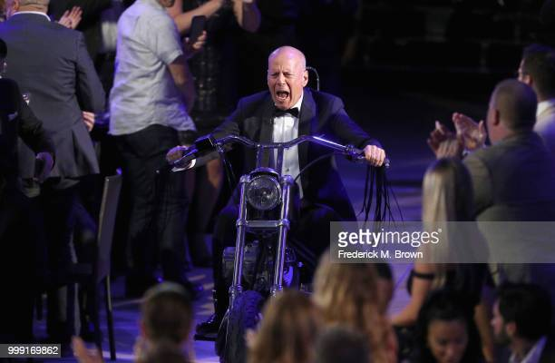 Bruce Willis in the audience during the Comedy Central Roast of Bruce Willis at Hollywood Palladium on July 14 2018 in Los Angeles California