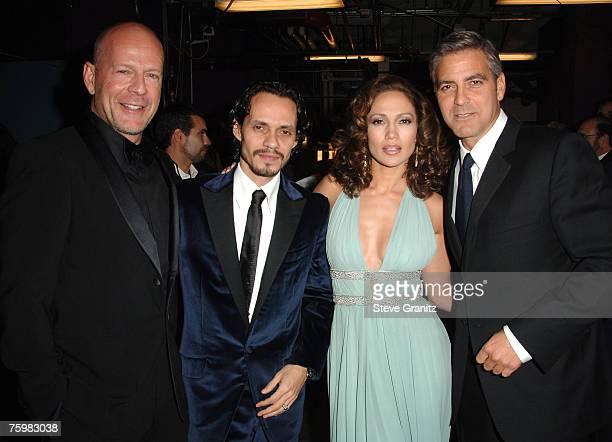 Bruce Willis, Marc Anthony, Jennifer Lopez and George Clooney