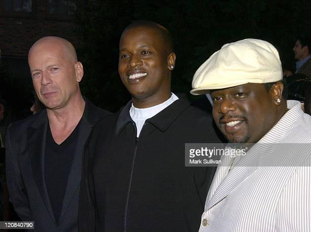 Bruce Willis Mark E Swinton director and Cedric 'The Entertainer'