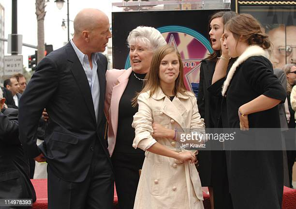 Bruce Willis mom Marlene kids Tallulah Rumer and Scout Willis