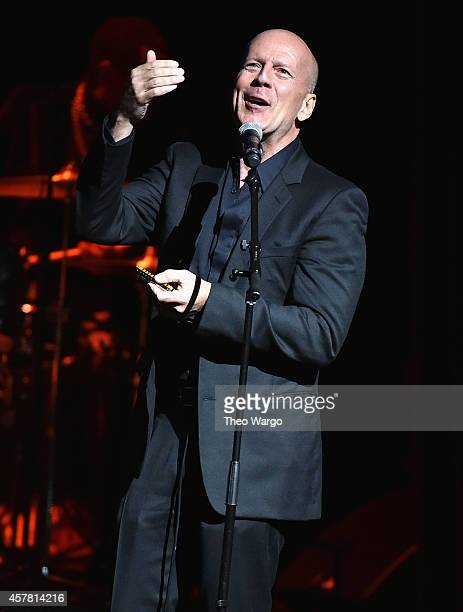 Bruce Willis performs at The Jazz Foundation Of America's 13th Annual 'A Great Night In Harlem' Gala Concert at The Apollo Theater on October 24 2014...