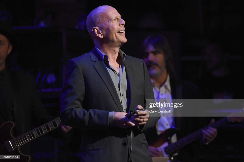 Bruce Willis performs during 'Love Rocks NYC! A Change is Gonna Come: Celebrating Songs of Peace, Love and Hope' A Benefit Concert for God's Love We Deliver at the Beacon Theatre on March 9, 2017 in New York City.
