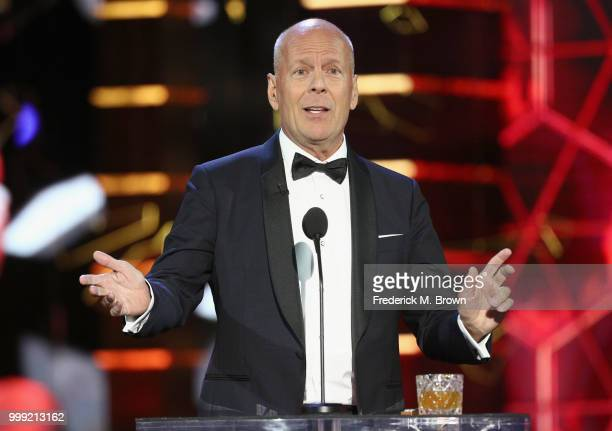 Bruce Willis speaks onstage during the Comedy Central Roast of Bruce Willis at Hollywood Palladium on July 14 2018 in Los Angeles California