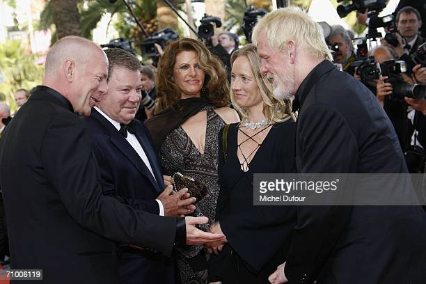 Bruce Willis William Shatner and Nick Nolte attend the 'Over The Hedge' premiere at the Palais Des Festivals during the 59th International Cannes...