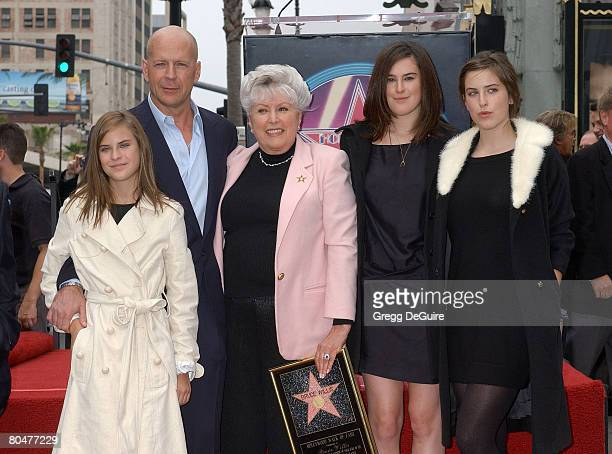 Bruce Willis with his mother Marlene his children Tallulah Willis Rumer Willis and Scout Willis