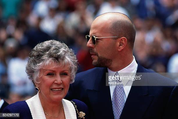 Bruce Willis with His Mother Marlene