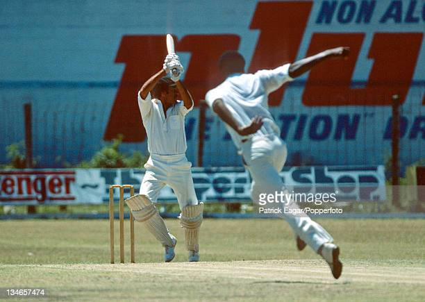 Bruce Yardley batting against Colin Croft West Indies v Australia 2nd Test Bridgetown March 197778
