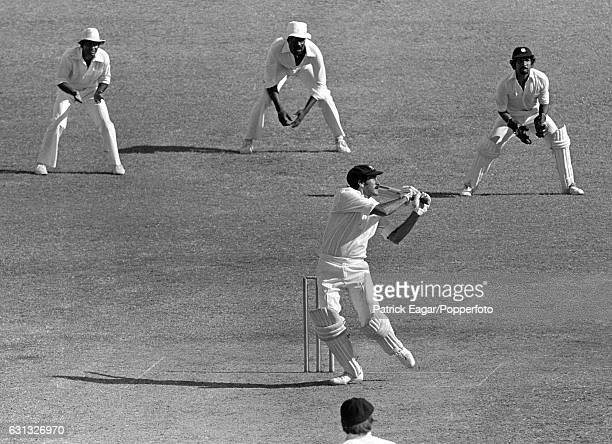 Bruce Yardley of Australia batting during his innings of 74 in during the 2nd Test match between West Indies and Australia at the Kensington Oval...