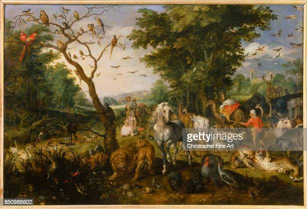Brueghel The Elder Jan The Entry of the Animals into Noah's Ark Orleans Fine Art Museum
