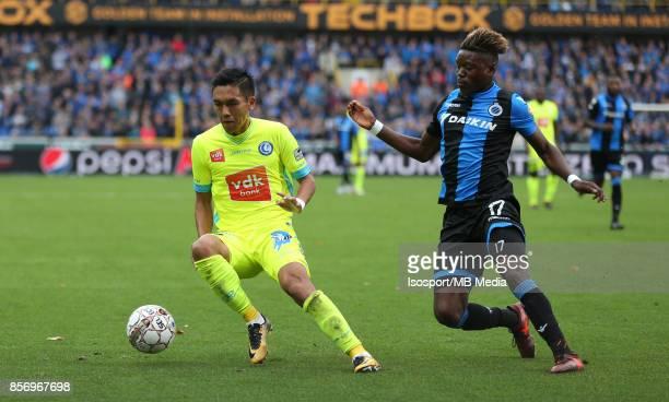 20171001 Bruges Belgium / Club Brugge v Kaa Gent / nYuya KUBO Anthony LIMBOMBEnFootball Jupiler Pro League 2017 2018 Matchday 9 / nPicture by Vincent...