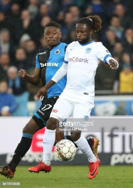 20180402 Bruges Belgium / Club Brugge v Krc Genk / nAnthony LIMBOMBE Dieumerci NDONGALAnFootball Jupiler Pro League 2017 2018 PlayOff 1 Matchday 1 /...