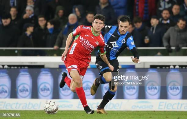 20180125 Bruges Belgium / Club Brugge v Kv Oostende / 'nAleksandar BJELICA Dion COOLS'nFootball Jupiler Pro League 2017 2018 Matchday 23 / 'nPicture...