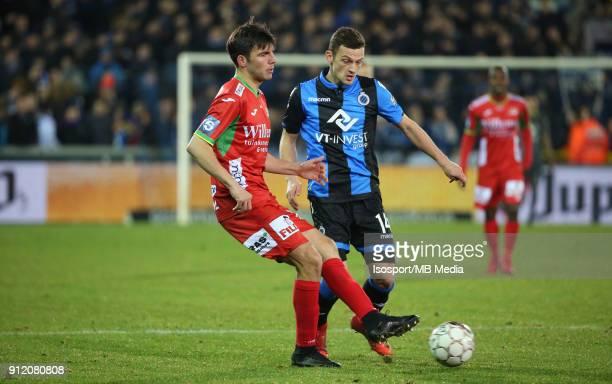 20180125 Bruges Belgium / Club Brugge v Kv Oostende / 'nAleksandar BJELICA Ivan TOMECAK'nFootball Jupiler Pro League 2017 2018 Matchday 23 /...