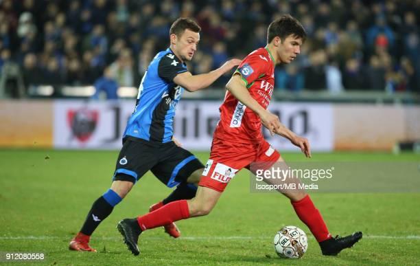 20180125 Bruges Belgium / Club Brugge v Kv Oostende / 'nIvan TOMECAK Aleksandar BJELICA'nFootball Jupiler Pro League 2017 2018 Matchday 23 /...