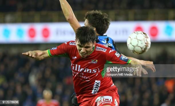 20180125 Bruges Belgium / Club Brugge v Kv Oostende / 'nJelle VOSSEN Aleksandar BJELICA'nFootball Jupiler Pro League 2017 2018 Matchday 23 /...