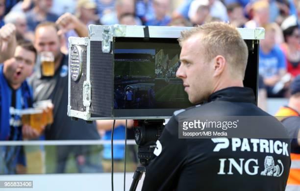 20180506 Bruges Belgium / Club Brugge v Rsc Anderlecht / 'nIllustration Video assistant referee VAR'nFootball Jupiler Pro League 2017 2018 PlayOff 1...