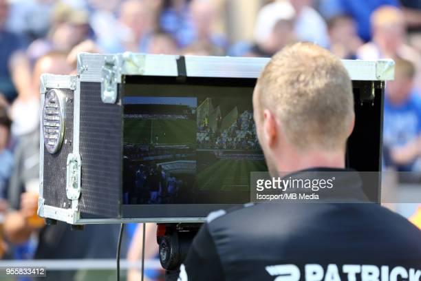 20180506 Bruges Belgium / Club Brugge v Rsc Anderlecht / nIllustration Video assistant referee VARnFootball Jupiler Pro League 2017 2018 PlayOff 1...