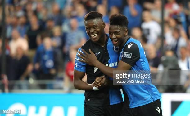 20180419 Bruges Belgium / Club Brugge v Sporting Charleroi / 'nAnthony LIMBOMBE Abdoulay DIABY Celebration'nFootball Jupiler Pro League 2017 2018...