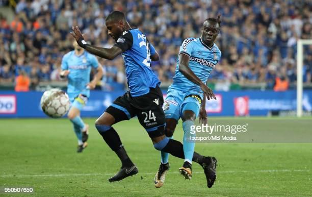 20180419 Bruges Belgium / Club Brugge v Sporting Charleroi / 'nStefano DENSWIL Nurio FORTUNA'nFootball Jupiler Pro League 2017 2018 PlayOff 1...