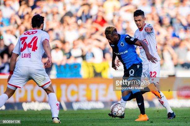 20180422 Bruges Belgium / Club Brugge v Standard de Liege / Abdoulay DIABY Junior EDMILSONnnFootball Jupiler Pro League 2017 2018 PlayOff 1 Matchday...