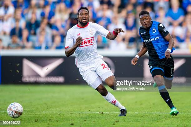 20180422 Bruges Belgium / Club Brugge v Standard de Liege / Anthony LIMBOMBE Christian LUYINDAMA'n'nFootball Jupiler Pro League 2017 2018 PlayOff 1...