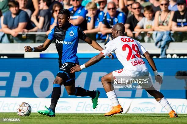 20180422 Bruges Belgium / Club Brugge v Standard de Liege / Luis Pedro CAVANDA Anthony LIMBOMBE'n'nFootball Jupiler Pro League 2017 2018 PlayOff 1...
