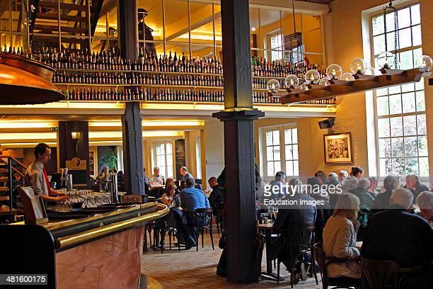 Bruges Belgium Flanders Europe Brugge De Halve Maan Brewery interior Maes Half Moon Brewery beer hall
