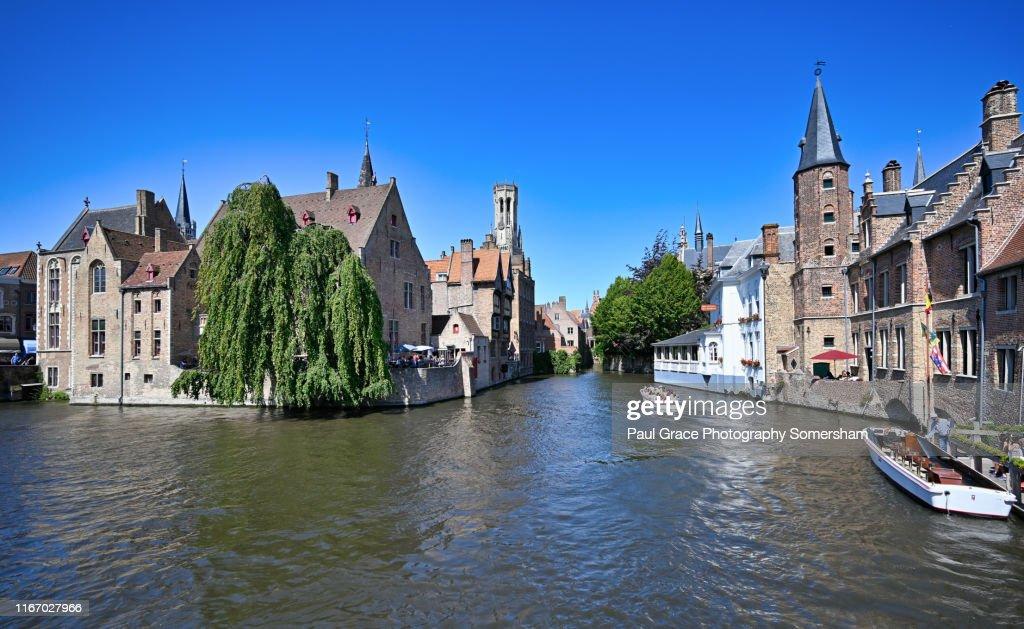 Brugge, Belgium, The Venice of the north : ストックフォト