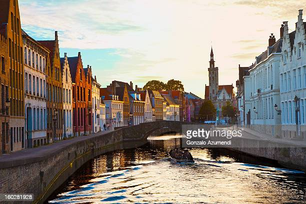 brugge canal. - bruges stock pictures, royalty-free photos & images