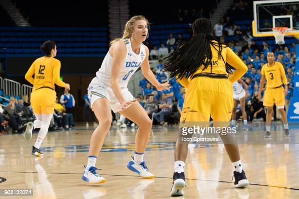 Bruins guard Chantel Horvat defends California Golden Bears guard Asha Thomas during the game between the Cal Berkeley Golden Bears and the UCLA...