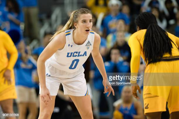 Bruins guard Chantel Horvat on defense during the game between the Cal Berkeley Golden Bears and the UCLA Bruins on January 19 at Pauley Pavilion in...