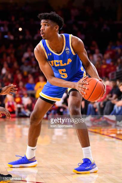 Bruins guard Chris Smith looks to make a move during the college basketball game between the UCLA Bruins and the USC Trojans on March 7 2020 at Galen...