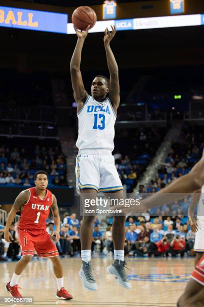 Bruins guard Kris Wilkes shoots a basket during the game between the Utah Utes and the UCLA Bruines on January 11 at Pauley Pavilion in Los Angeles,...