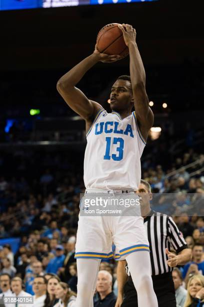 Bruins guard Kris Wilkes shoots a three point basket during the game between the Oregon State Beavers and the UCLA Bruins on February 15 at Pauley...