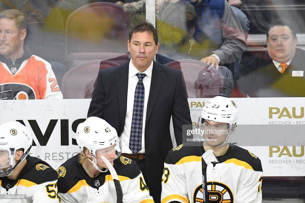 NHL: JAN 16 Bruins at Flyers : Foto di attualità