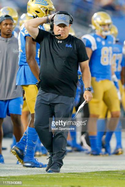 Bruins head coach Chip Kelly during a college football game between the Oregon State Beavers and the UCLA Bruins on October 05 at the Rose Bowl in...