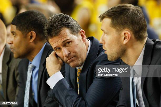 Bruins head coach Steve Alford watches the action on the court during a regular season nonconference basketball game between the UCLA Bruins and the...