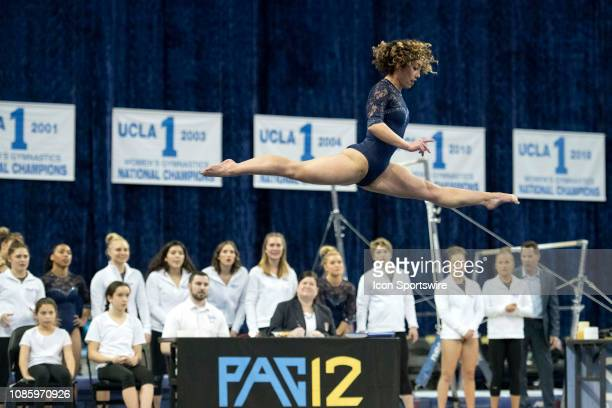 Bruins' Katelyn Ohashi competes on floor during an NCAA college gymnastics meet against Arizona State Sun Devils in Los Angeles Monday, Jan. 21, 2019.