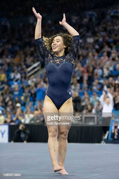 Bruins Katelyn Ohashi Competes On Floor During An Ncaa
