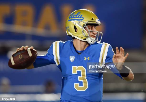 Bruins quarterback Josh Rosen back to pass during the first quarter of a game against the Arizona State Sun Devils on November 11 played at the Rose...