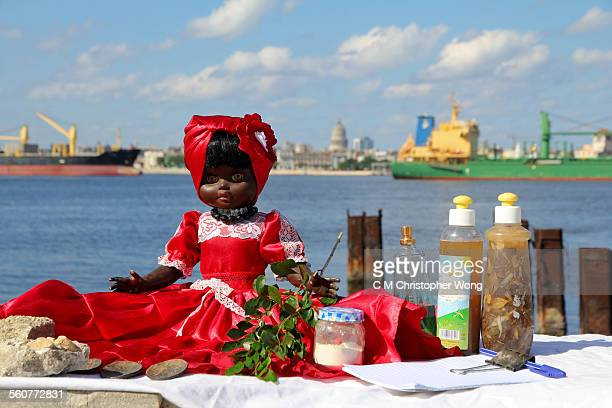bruja's black doll - cuban doll stock pictures, royalty-free photos & images