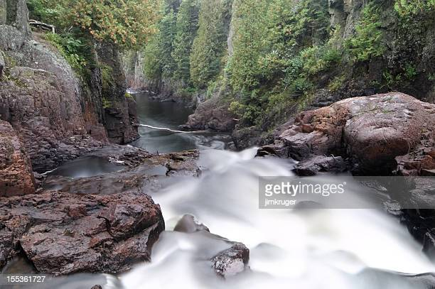 brule river along the shores of lake superior. - north shore stock photos and pictures