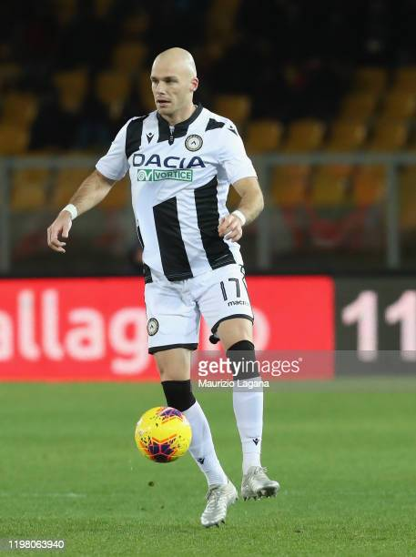 Brum Nuytinkc of Udinese during the Serie A match between US Lecce and Udinese Calcio at Stadio Via del Mare on January 5, 2020 in Lecce, Italy.