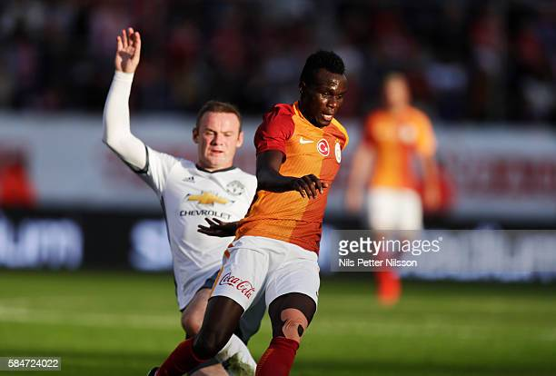 Bruma of Galatasaray and Wayne Rooney of Manchester United during the preseason Friendly between Manchester United and Galatasaray at Ullevi on July...