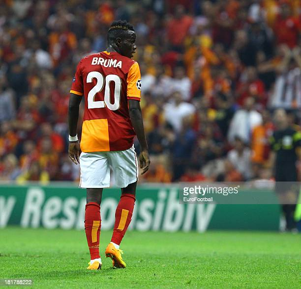 Bruma of Galatasaray AS in action during the UEFA Champions League group stage match between Real Madrid CF and Galatasaray AS held on September 17...